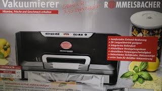 Rommelsbacher VAC 485 Vakuumierer ,  Vakuumierergerät