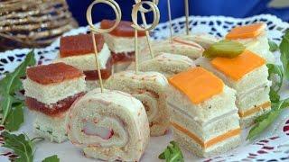 Canapés frios y variados con pan de molde: 3 Canapés fáciles y rápidos
