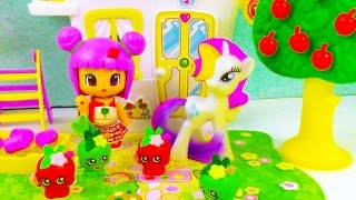 MLP Shopkins Pinypon Apple Picking Orchard Playset My Little Pony Toy Review