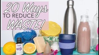 20 WAYS TO REDUCE WASTE | Easy Sustainable Lifestyle Hacks | Zero Waste for Beginners | The Edgy Veg