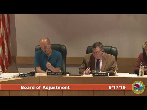 Board of Adjustment 9.17.19