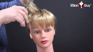 Wispy Bangs or Fringe - Peek a Boo Bangs Tutorial | TheSalonGuy