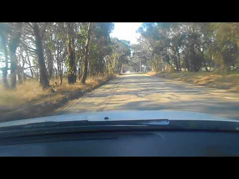 TTDT 112 Country Driving On Single Lane Road With Gravel Verge And Oncoming Car