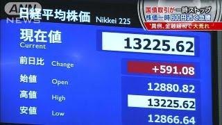アベノミクス効果・・・円安株高国債取引一時ストップ13/04/05