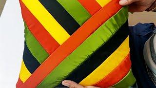 घर ही बनाए प्यारा सा कुशन कवर    How To Make Cushion Cover Cutting And Stitching