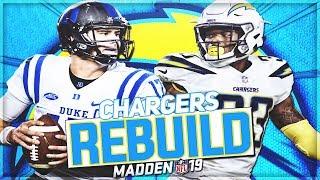 Rebuilding The LA Chargers | Daniel Jones Drops 45 TDs -- Can He Win a SB?! | Madden 19 Franchise
