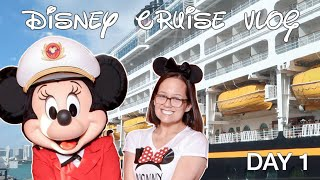 BOARDING THE DISNEY MAGIC + RAPUNZELS ROYAL TABLE - DISNEY CRUISE VLOG DAY 1