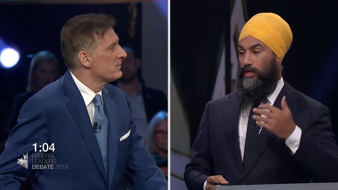 Maxime Bernier debates Jagmeet Singh about extremism in Canada