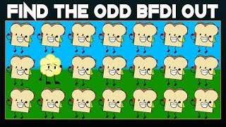Find The Odd BFDI One Out If You Are A Genius   Find The Odd Emoji Out   Find The Difference