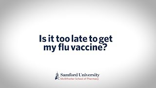IS IT TOO LATE TO GET THE FLU VACCINE?