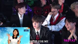 181106 BTS (Suga,Jin,RM,Jk,J Hope) Reaction To Twice   What Is Love, DTNA, YoY @MGA 2018