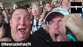Goal reactions   Newcastle united 3-0 West Ham United