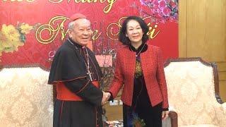 Tổng Giám mục Tổng Giáo phận Hà Nội thăm, chúc Tết Ban Dân vận Trung ương