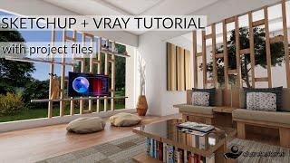 sketchup vray interior lighting & rendering tutorial - TH-Clip