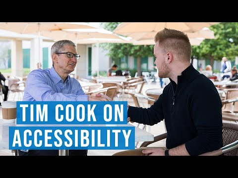photo image Apple CEO Tim Cook Talks Accessibility With Three YouTubers