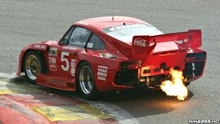 Porsche 935 Turbo Kremer K3 HUGE Flames & Sound @ Track!!