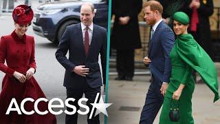 Meghan Markle & Prince Harry Awkwardly Greet Kate Middleton & Prince William