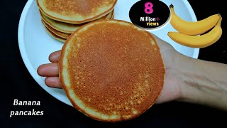 how to make pancakes without eggs and milk and flour