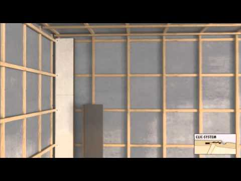 Wandpaneele - Laminat an die Wand - Wandvertäfelung Lamiwall