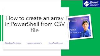 How to create an array in PowerShell from CSV file