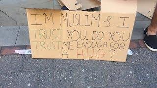I'M MUSLIM & I TRUST YOU. DO YOU TRUST ME ENOUGH FOR A HUG? | MANCHESTER