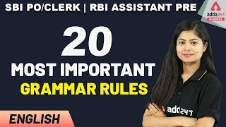 SBI PO 2020   English   20 Most Important English Grammar Rules for Bank PO