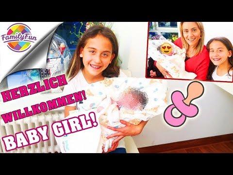 HERZLICH WILLKOMMEN BABY GIRL 👶 Spontan GEBURT - Krankenhaus Baby Besuchen - Family Fun
