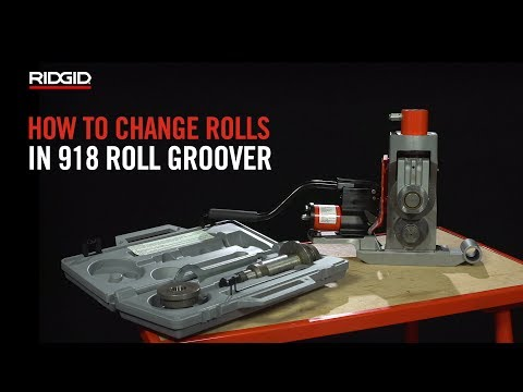 RIDGID How to Change Rolls in a 918 Roll Groover
