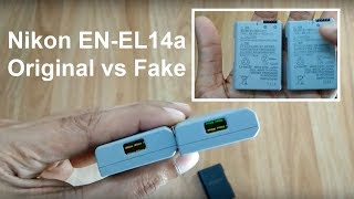 EN-EL14a Battery Original vs Duplicate for Nikon D5200 D5300 D5600 D3300 D3400 D3500