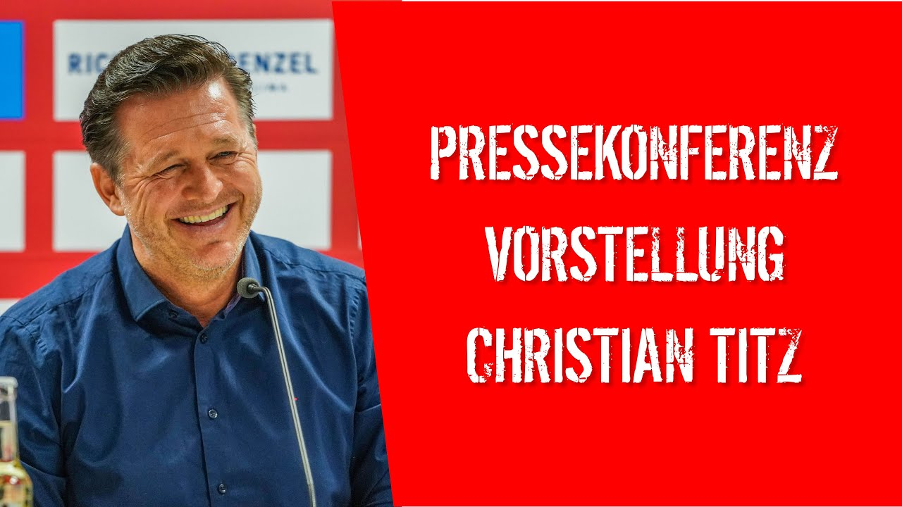 Pressekonferenz zur Vorstellung von Christian Titz
