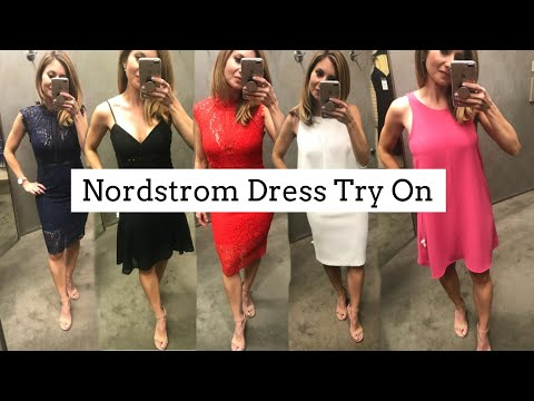 Shop with Me for #rStheCon   Nordstrom Try On   Dresses