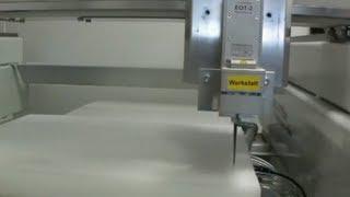 Oszillierendes Tangentialmesser: Schneiden 60mm Schaum Foam cutting with osz. tangential knife cutter cutting cnc router fräse
