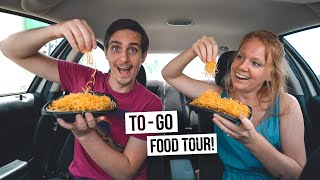 We Did A TAKE-OUT ONLY Food Tour In Cincinnati! - Trying Goetta, Buckeyes And A 3-way 😳