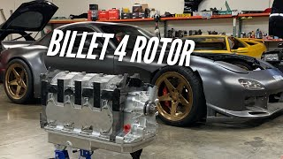 Unboxing one of the world's MOST expensive engines! BILLET 4 Rotor Drivetrain