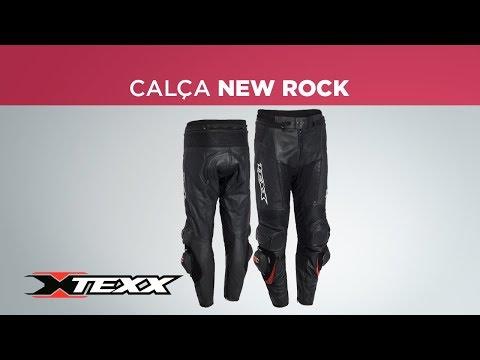 Calça Motociclista em Couro Texx New Rock Evolution eed4eb94d32