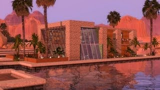 Sims 3  Modern Tropical Dock House - 1080p