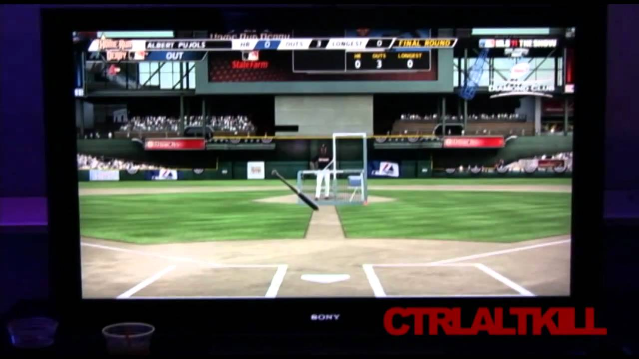 The Invisible Batter Of Baseball On The PlayStation Move