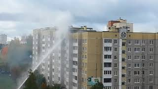 Пожар на улице Одинцова 19, Минск
