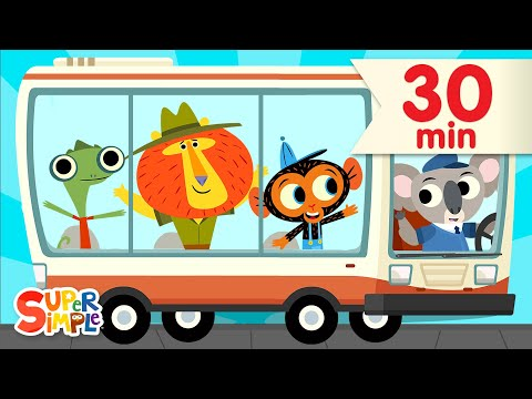 , title : 'The Wheels On The Bus + More   ft. @Mr. Monkey, Monkey Mechanic   Super Simple Songs