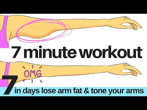 7 DAY CHALLENGE - 7 MINUTE WORKOUT - TO LOSE ARM FLAB  - ARM EXERCISE FOR WOMEN - START TODAY