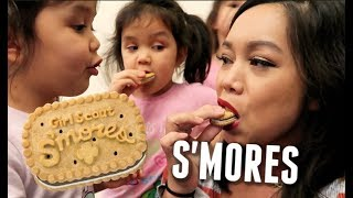 We Taste Test the S'mores Girl Scout Cookies! -  ItsJudysLife Vlogs