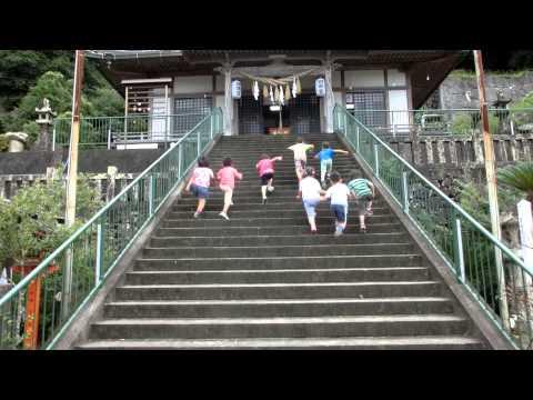 加津佐若木保育園の運動遊び!温泉神社階段のぼり