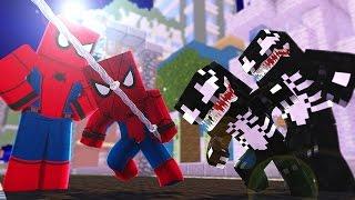 Minecraft: WHO'S YOUR FAMILY? BEBÊ DO HOMEM ARANHA VS BEBÊ DO VENOM! (Spider-Man HomeComing)