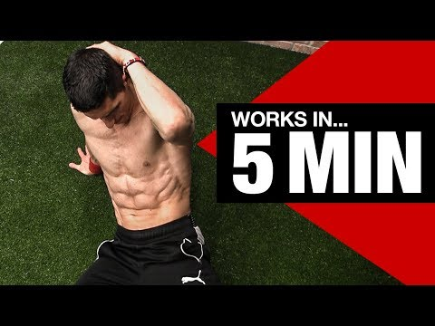 RIPPED ABS – Beginner Ab Workout (5 Minutes!)