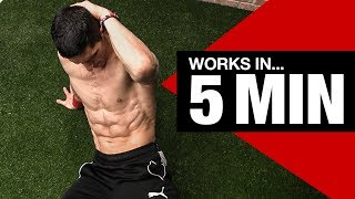 RIPPED ABS - Beginner Ab Workout (5 Minutes!)