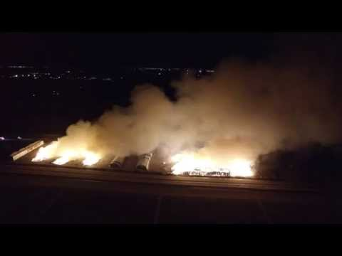 Hay Fire in Coolidge AZ on 9-15-2015 Filmed by Gebhardt Insurance