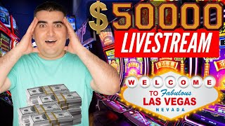 🔴 $50,000 High LIMIT Huge LIVE STREAM Slot Play From LAS VEGAS - Up To $100 A Spins! The Power Of NG