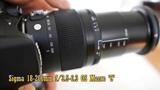 Sigma 18-200mm f/3.5-6.3 OS Macro 'C' lens review (with samples)