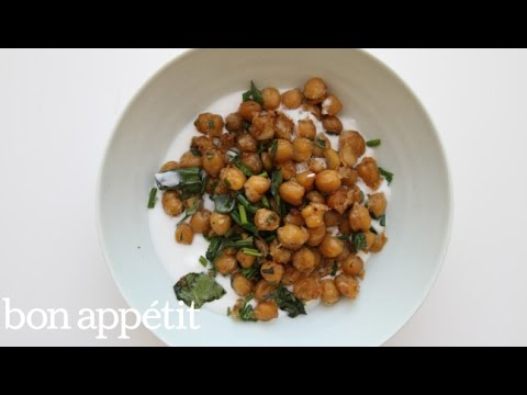 How to Make Crispy Herbed Chickpeas | Bon Appetit