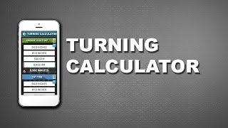 CNC Machinist Calculator – Turning calculations